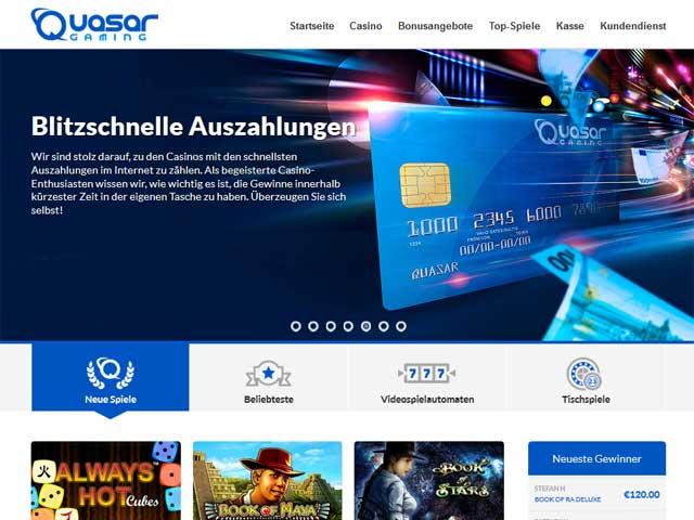 Quasar Gaming Casino Erfahrung mit Bonus