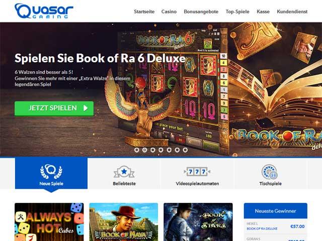 Quasar Gaming Erfahrung schnellste Auszahlung Casino