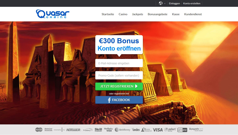 Quasar Gaming Erfahrung - erste Wahl bei Novoline Online spielen