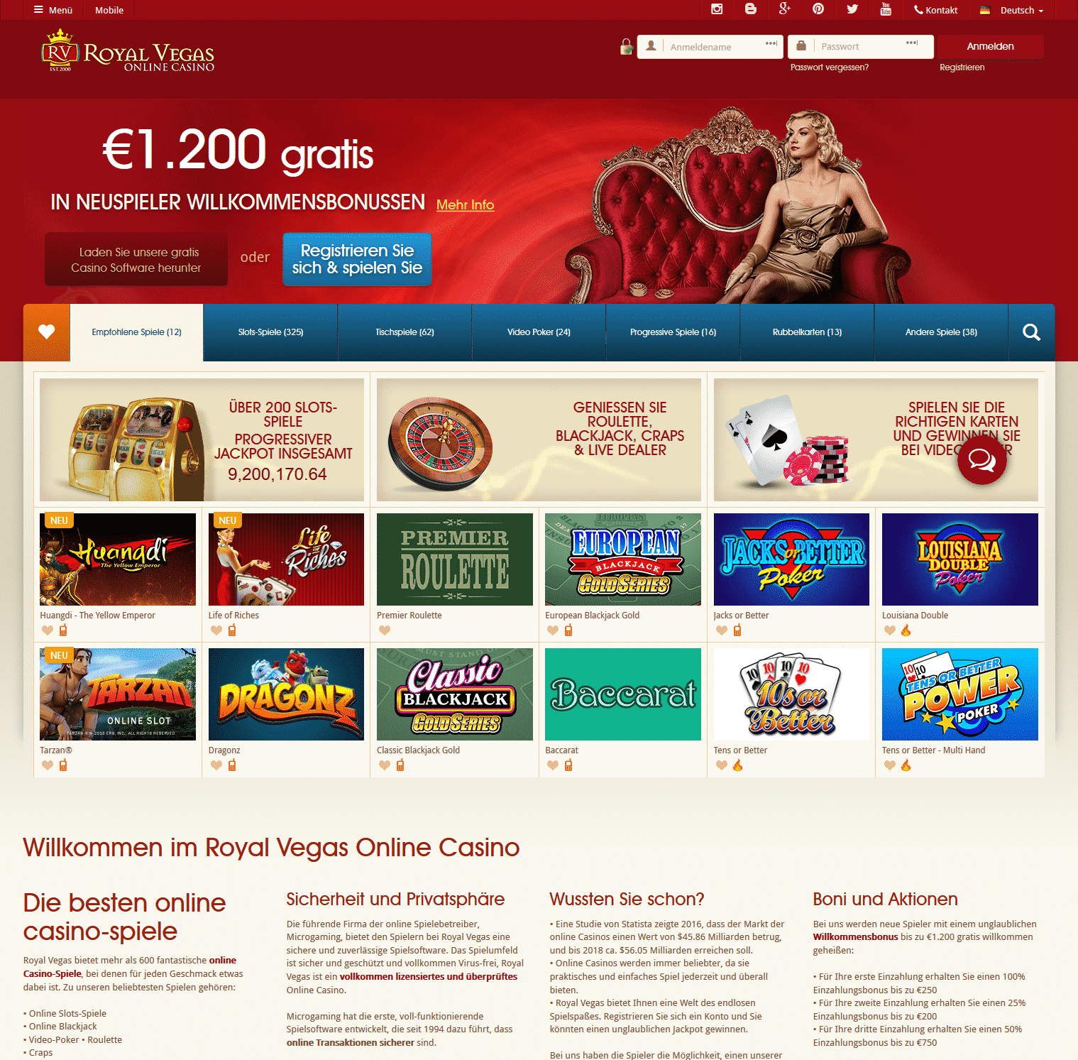 royal vegas online casino download  spielen
