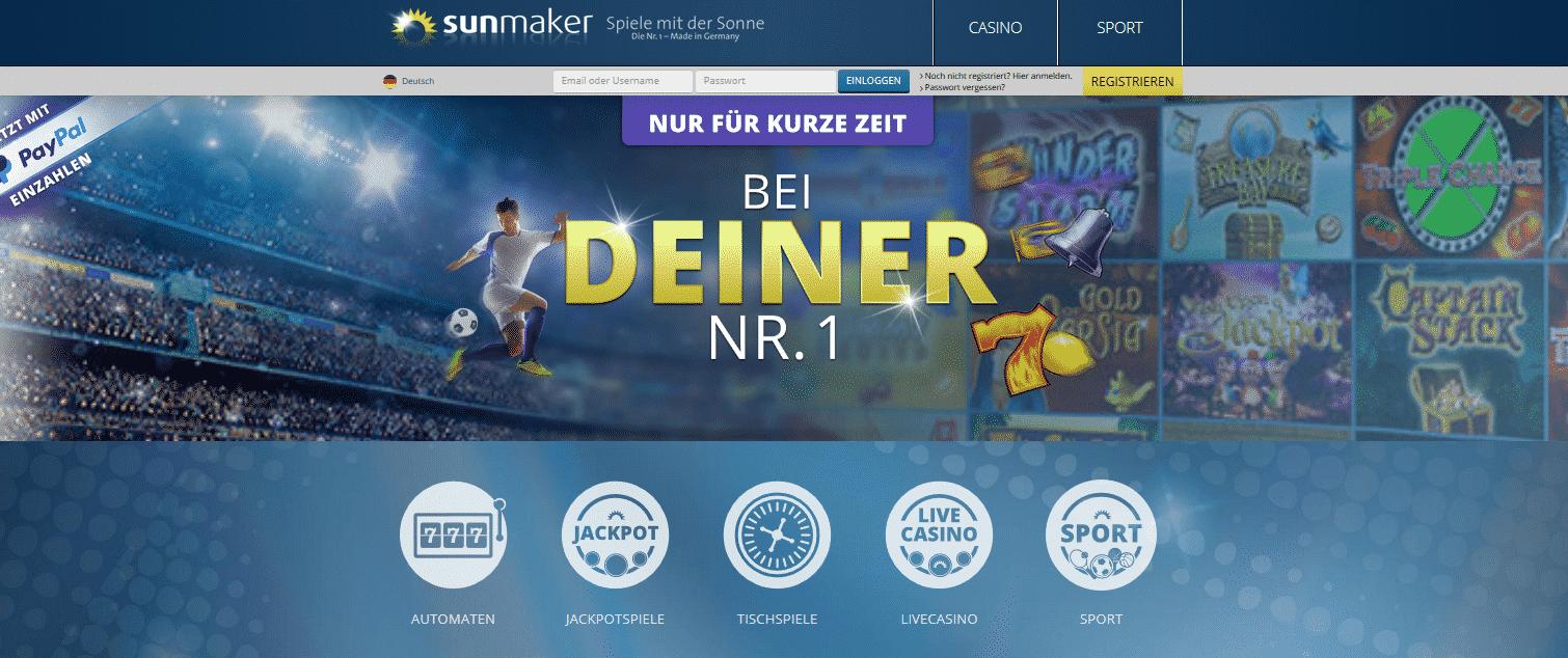 sunmaker online casino novolino casino