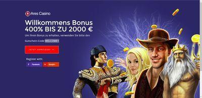 Ares Casino Startbildschirm novoline online 400