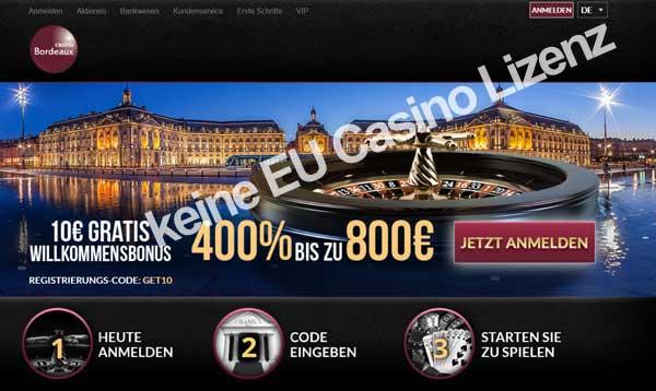 Hier würde ich nicht Novoline spielen, da das Casino keine EU Lizenz hat