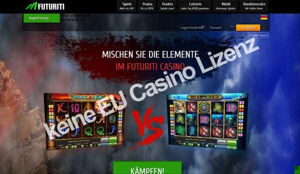 keine Casino Lizenz für Europ in diesem online Casino